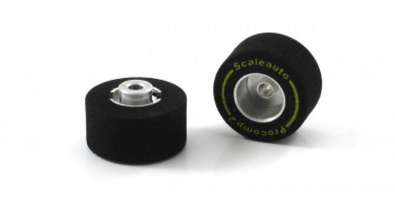 ProComp Alufelgen mit Moosgummireifen von Scaleauto 20,5x11 mm