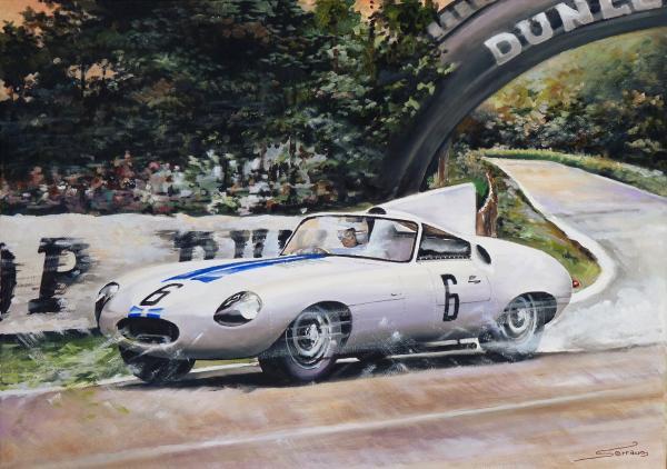 Jaguar E2A  Le Mans '60 von Slot Classic