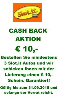 Slot.it Cash Back Aktion